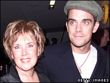 Robbie Williams and his mother Jan