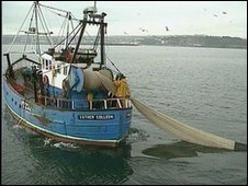 A fishing trawler