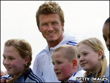 David Beckham opening his academy