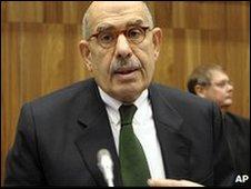 IAEA head Mohamed ElBaradei in Vienna (26 Nov 2009)