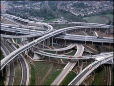 Spaghetti Junction motorway interchange