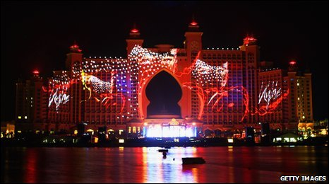 The opening celebrations for Atlantis, The Palm Resort, and the Palm Jumeirah in Dubai