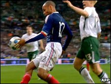 Thierry Henry's hand ball