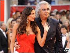 Flavio Briatore and his wife Elisabetta Gregoraci