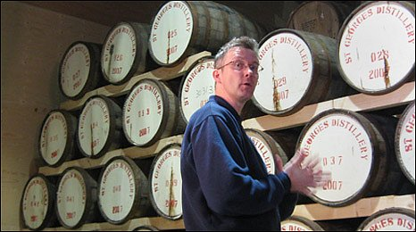 David Fitt, head distiller of the English Whisky Co.
