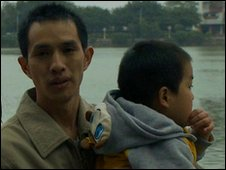 Lou Run and his father Luo An Xin
