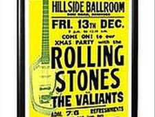 Rolling Stones poster from when they played Hereford