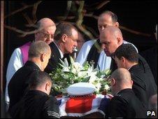 Pc Barker's coffin