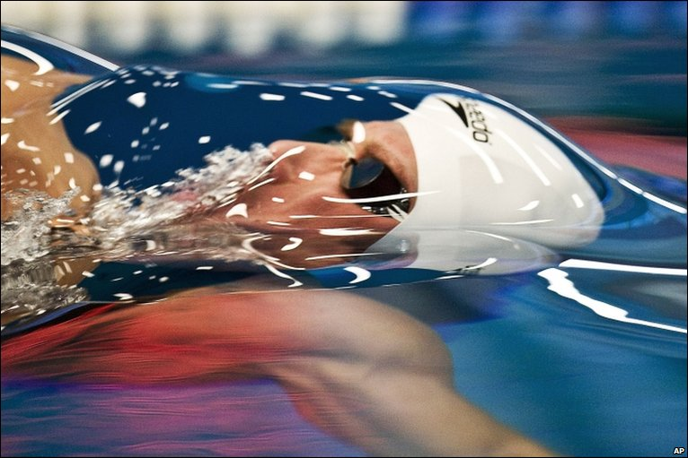 Thomas Rupprath in the 50-metre backstroke in Essen, Germany