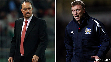 Rafael Benitez (left) and David Moyes