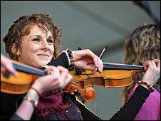 Musician at the Spirit of Speyside whisky festival