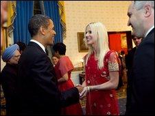 The couple met US President Barack Obama at the White House state dinner