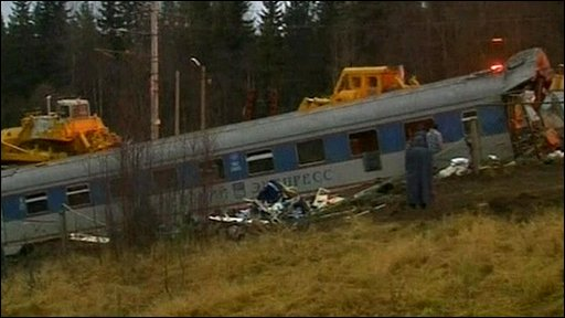 Train crash site
