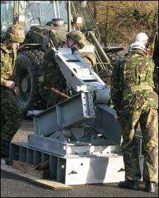 Soldiers contsructing bridge (Pic: Army Press Office)