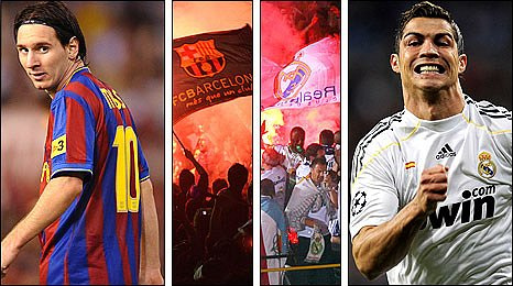 Lionel Messi, Barcelona and Real Madrid fans, Cristiano Ronaldo