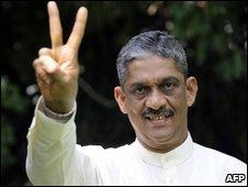 General Sarath Fonseka, pictured on 26 November 2009