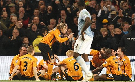 Hull City midfielder Jimmy Bullard celebrates
