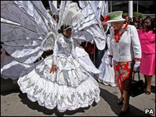 Queen Elizabeth II in Port of Spain