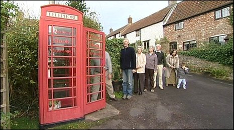 Phonebox library in Westbury-sub-Mendip