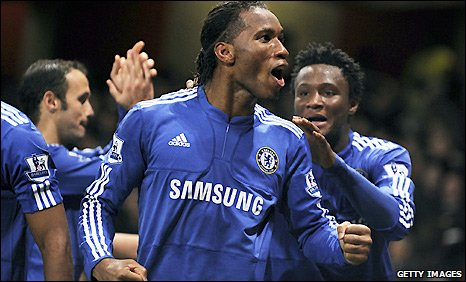 Chelsea striker Didier Drogba has a excellent scoring record against Arsenal