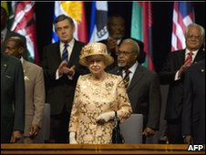 Queen Elizabeth with heads of government