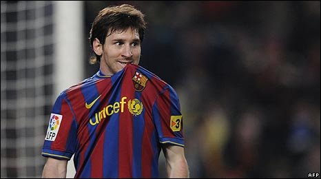 Barcelona's Lionel Messi