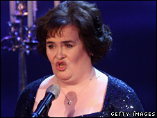 Susan Boyle performing in Munich