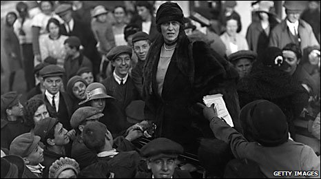 Nancy Astor at the hustings in Plymouth in 1923