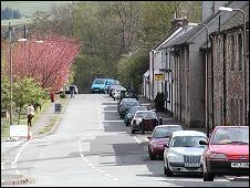 Fintry main street. Undiscovered Scotland