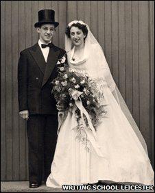 Stella and Geoffrey Louis on their wedding day in 1950