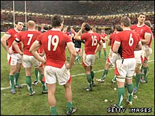 Wales players dejected after losing to Australia