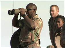 South African soldiers on military exercise