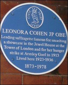 Leonora's blue plaque