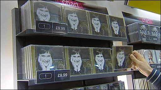 Susan Boyle's album in the shops