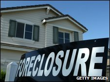 A house in the US undergoing foreclosure