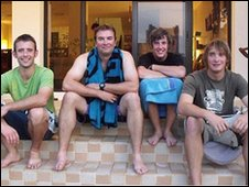 (From left): Sam Usher, Oliver Smith, Luke Porter, Oliver Young