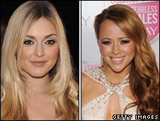 Fearne Cotton and Kimberley Walsh