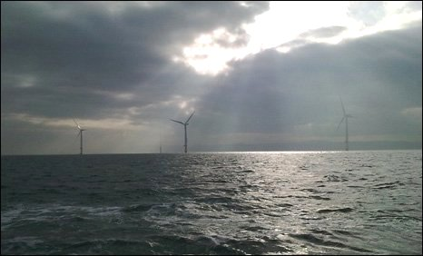 Wind turbines at Rhyl Flats