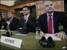 Serbian representatives at The Hague