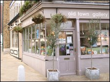 An art gallery in Margate's old town
