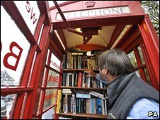 Phone box library in Somerset