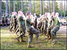 US marines training at Parris Island base