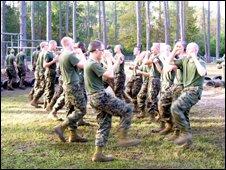 US marines training at Parris Island base