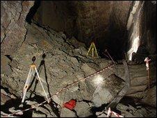 Inside a cavern