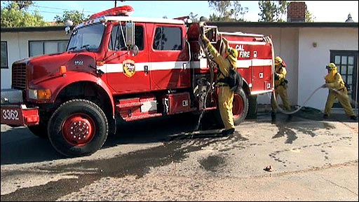 Firefighters in southern California
