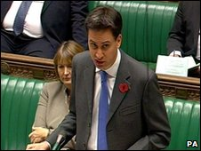 Secretary of State for Energy and Climate Change Ed Miliband makes a statement about the expansion of nuclear power in the UK, November 2009