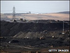 Opencast coal mine in Merthyr Tydfil, Wales