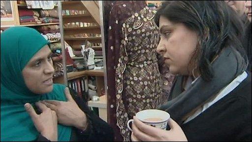 Khursid Haseeb and Baroness Warsi