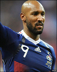 France striker Nicolas Anelka