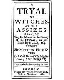 Bury St Edmunds witch trial poster